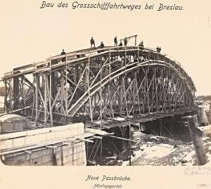 Budowa mostu Zwierzynieckiego w 1896 roku