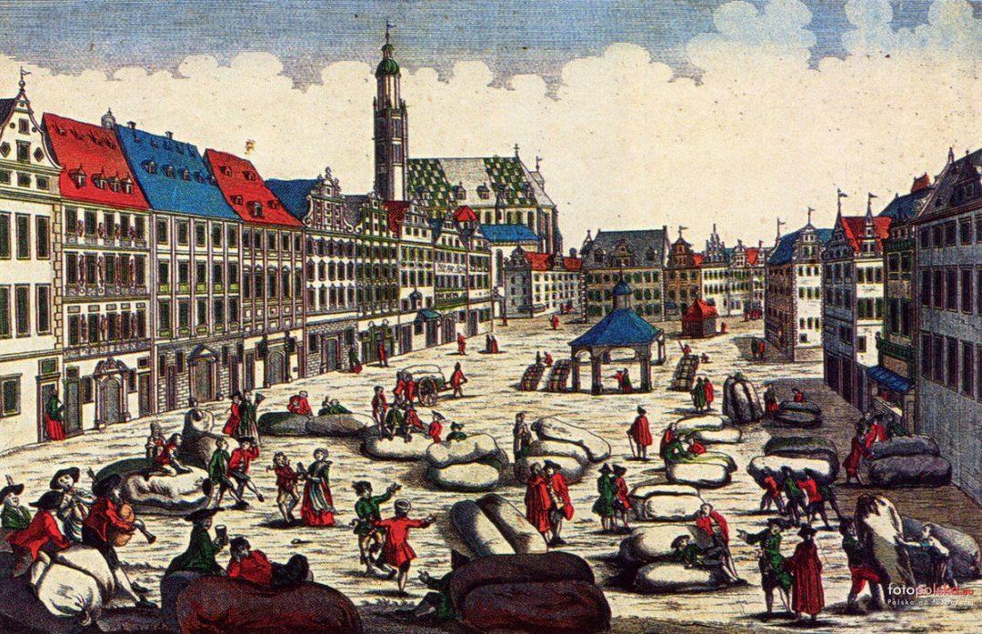 Targ wełny na Zachodniej pierzeji Rynku w latach 1700-1780.