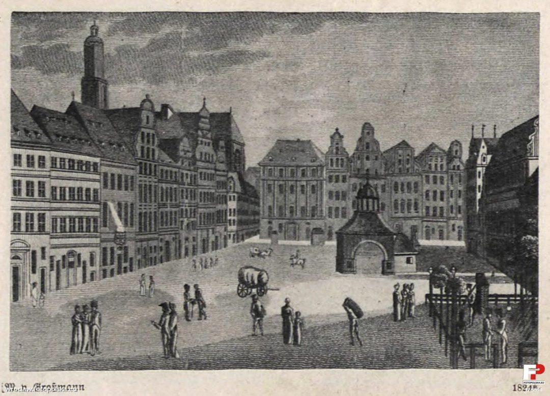 """""""Paradeplatz"""" na Rynku w 1824 roku."""