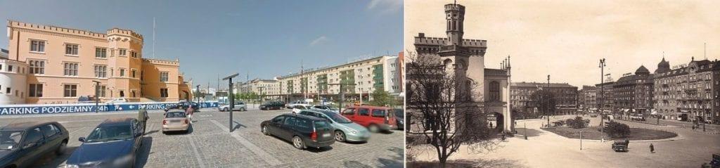 Miejsca we wrocławiu - dworzec i piłsudskiego