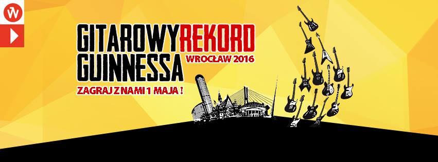 Gitarowy rekord Guinnessa na Wrocławskim Rynku.