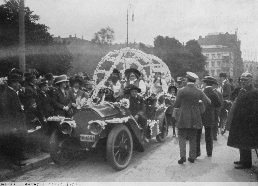Wrocławskie święto kwiatów w 1911 roku.