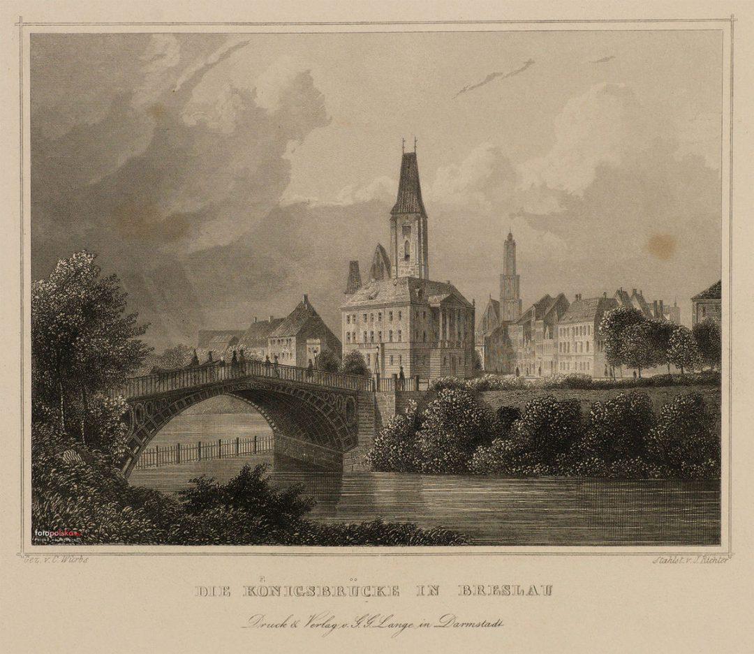 Most Królewski z 1822 roku (nieistniejący) – MiejscaWeWroclawiu.pl
