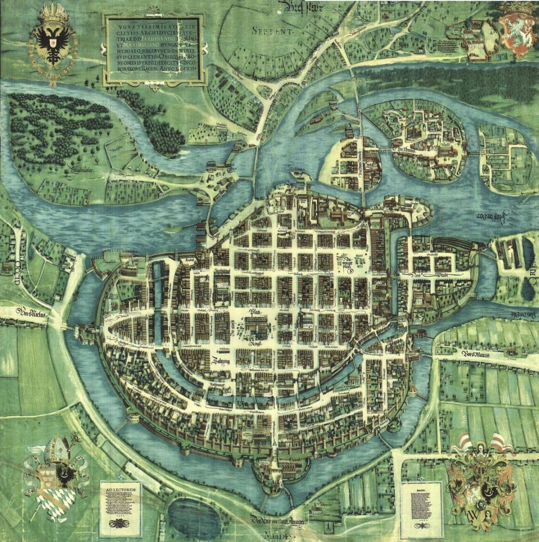 Plany miasta sprzed 400 lat. – Miejsca we Wrocławiu.