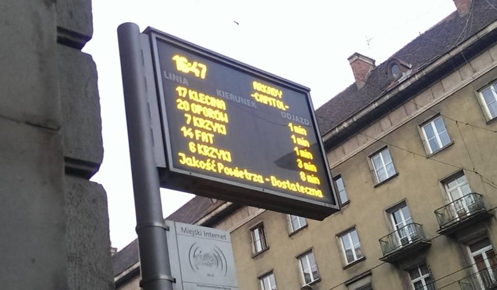 Tablice z rozkładem jazdy pokażą jaka jest aktualnie jakość powietrza. – Miejsca we Wrocławiu.