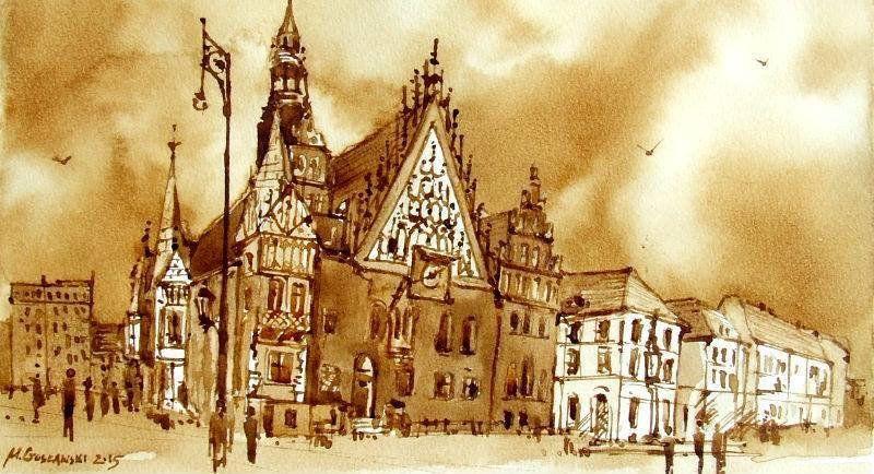 Przyjdź i zobacz Wrocław namalowany kawą. – Miejsca we Wrocławiu.
