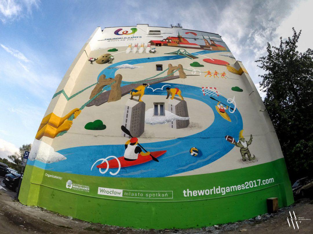 W okolicach mostu Grunwaldzkiego powstał nowy mural. – Miejsca we Wrocławiu.