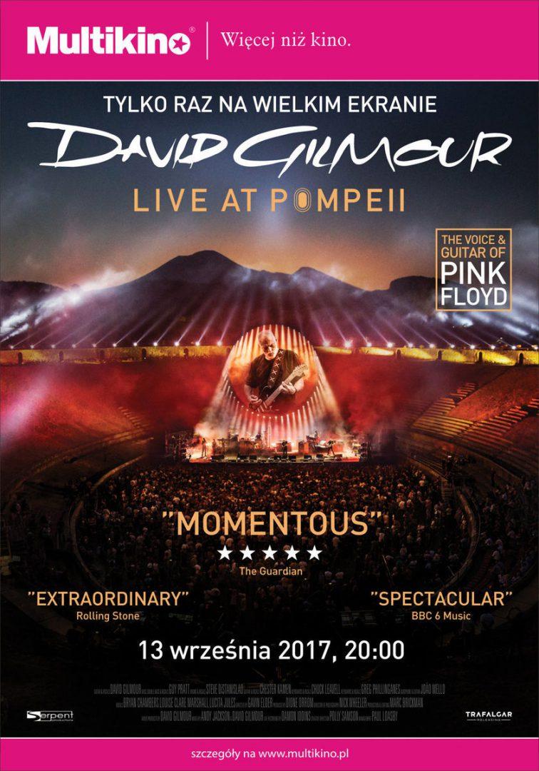 """""""David Gilmour – Live at Pompeii"""" oraz Noc Grozy w Multikinie. – Miejsca we Wrocławiu"""