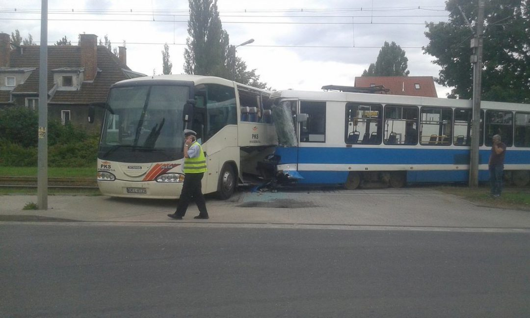 Groźny wypadek przy ul. Kwidzyńskiej. – Miejsca we Wrocławiu