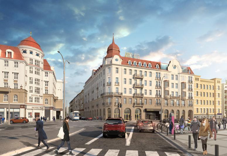 Ruszyła przebudowa Hotelu Grand przy ul. Piłsudskiego [WIZUALIZACJE]. – MiejscaWeWroclawiu.pl