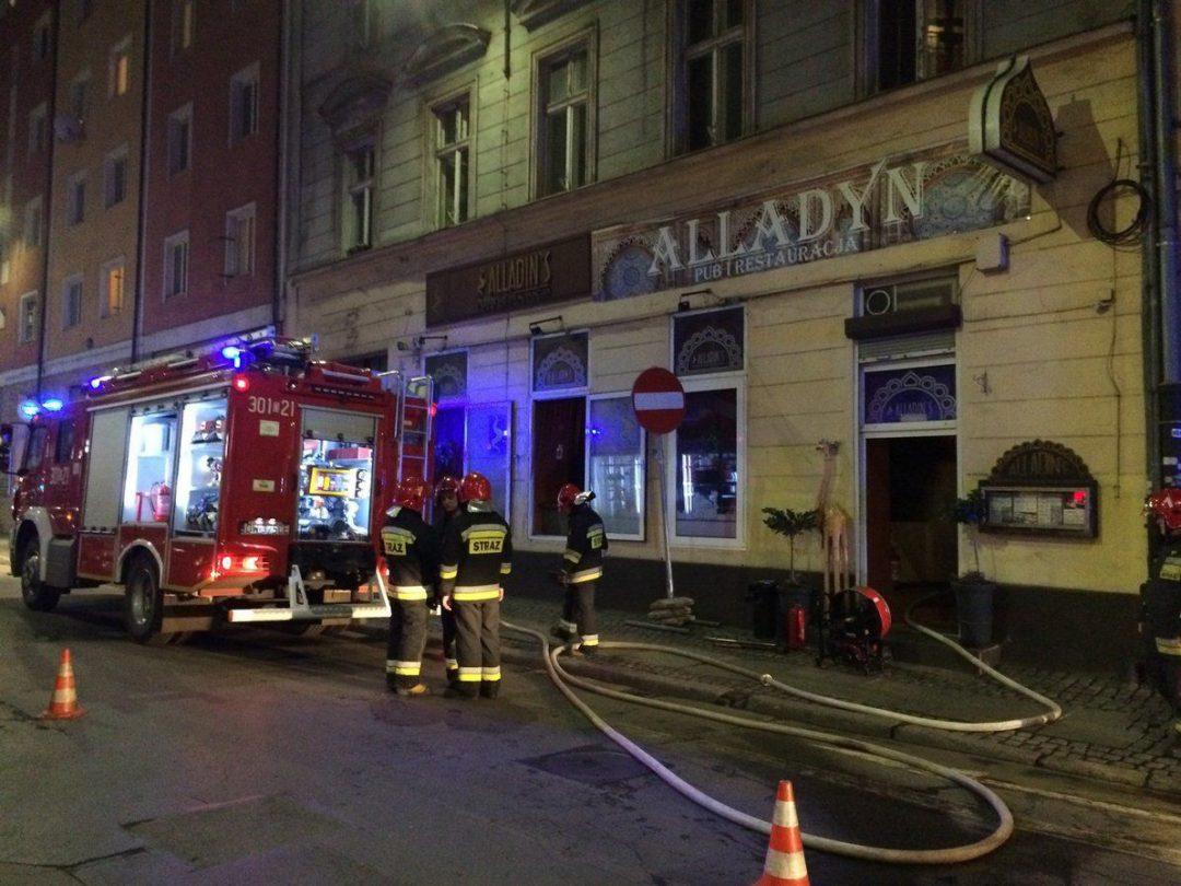 Pożar restauracji Alladyn przy ul. Odrzańskiej [ZDJĘCIA]. – MiejscaWeWroclawiu.pl