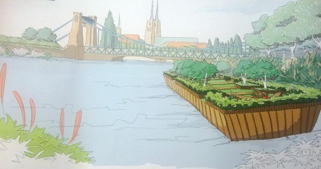 Jest plan na budowę wodnych ogrodów. – MiejscaWeWroclawiu.pl