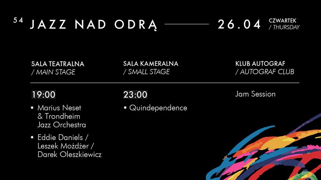 Jazz nad Odrą 2018 [REPERTUAR]. – MiejscaWeWroclawiu.pl
