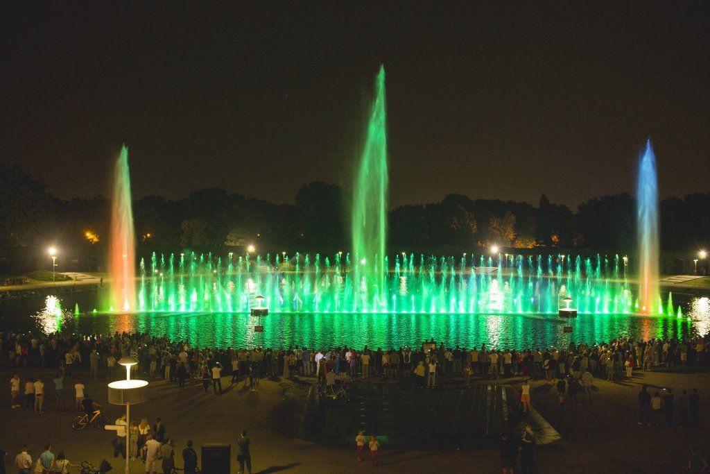 Wrocławska fontanna multimedialna znów działa!