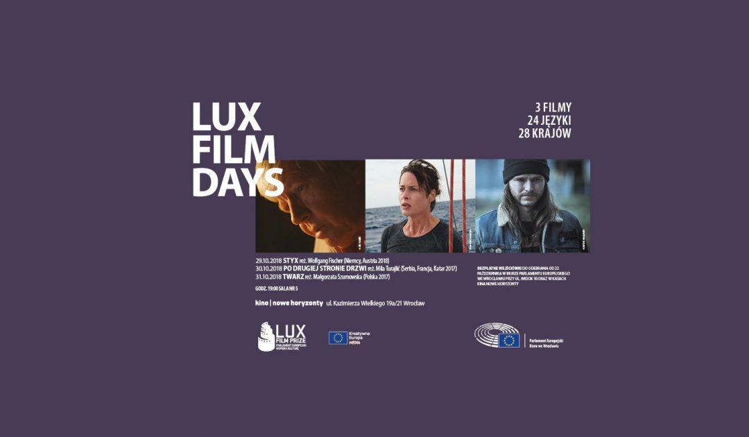 Gratka dla koneserów kina europejskiego: Dni Filmowe LUX 2018 już od 29 do 31 października. – MiejscaWeWroclawiu.pl