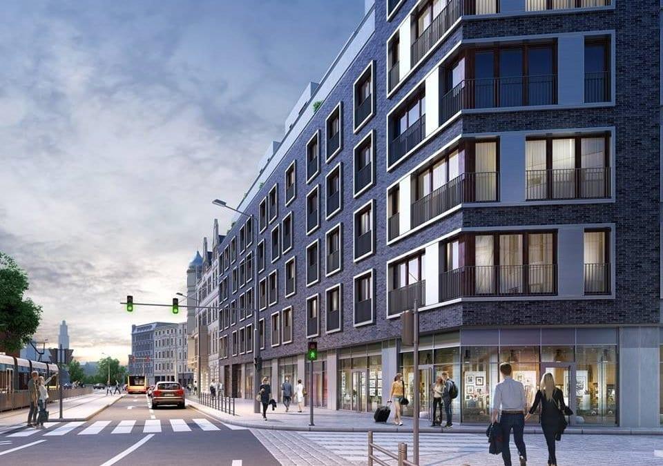 Szkieletor przy ulicy Drobnera zmieni się w apartamentowiec.