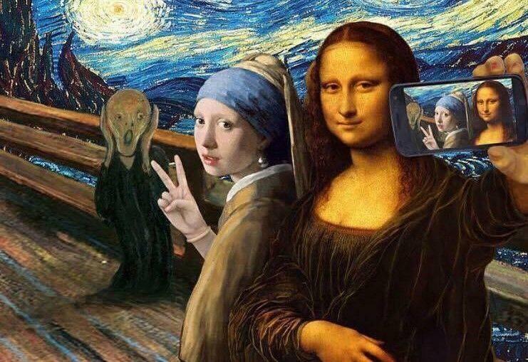"""Dziś """"Museum Selfie Day""""."""