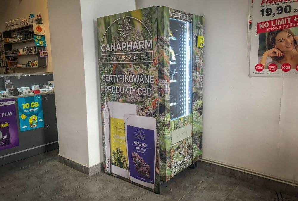 We Wrocławiu stanął pierwszy w Polsce automat do sprzedaży suszu konopnego CBD.