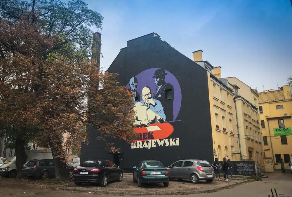 Powstał mural z wizerunkiem Marka Krajewskiego.