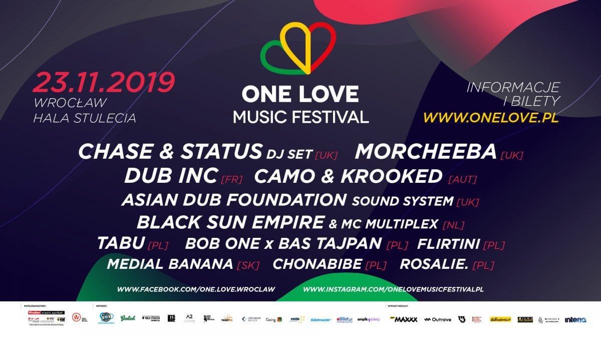 One Love Music Festival już w listopadzie.