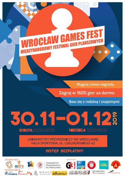Wrocław Games Fest 2019 – planszowe święto w stolicy Dolnego Śląska!