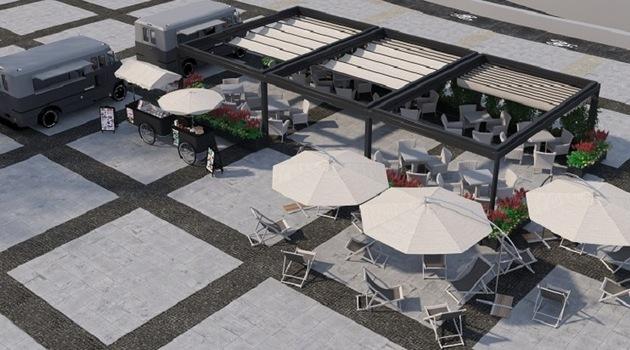 Na placu Nowy Targ powstanie strefa rekreacyjno-gastronomiczna.