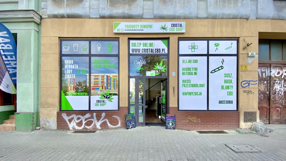 Cristal CBD shop, czyli najlepiej wyposażony sklep konopny we Wrocławiu.