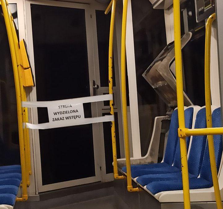 Strefy buforowe znikają z tramwajów.