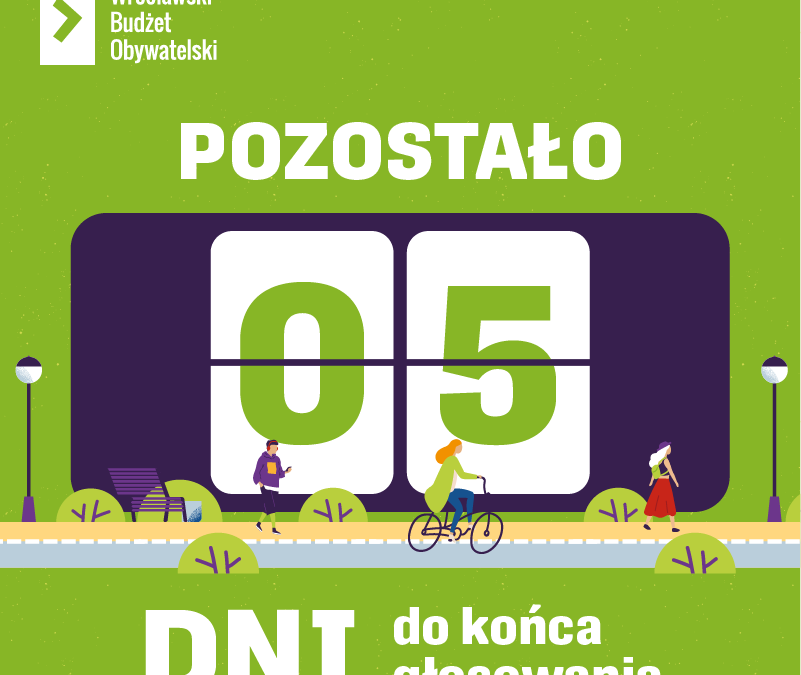 Wrocławianie stawiają na zieleń! Ponad połowa projektów zgłoszonych do WBO dotyczy zieleni miejskiej.