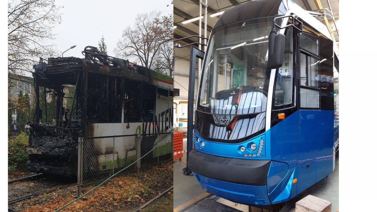 Kończy się odbudowa spalonego tramwaju MPK Wrocław.