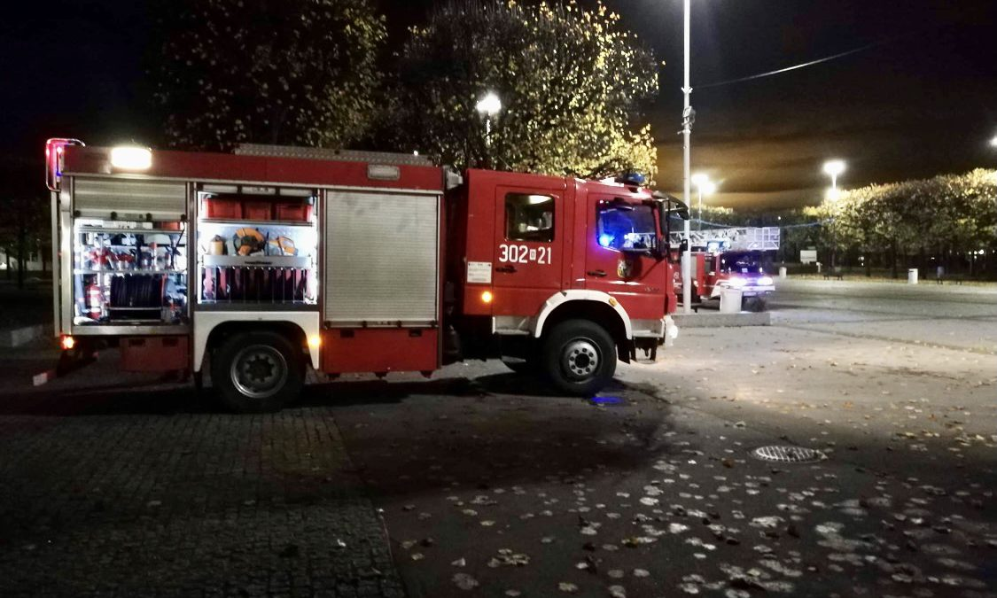 Alarm w Pawilonie Czterech Kopuł.
