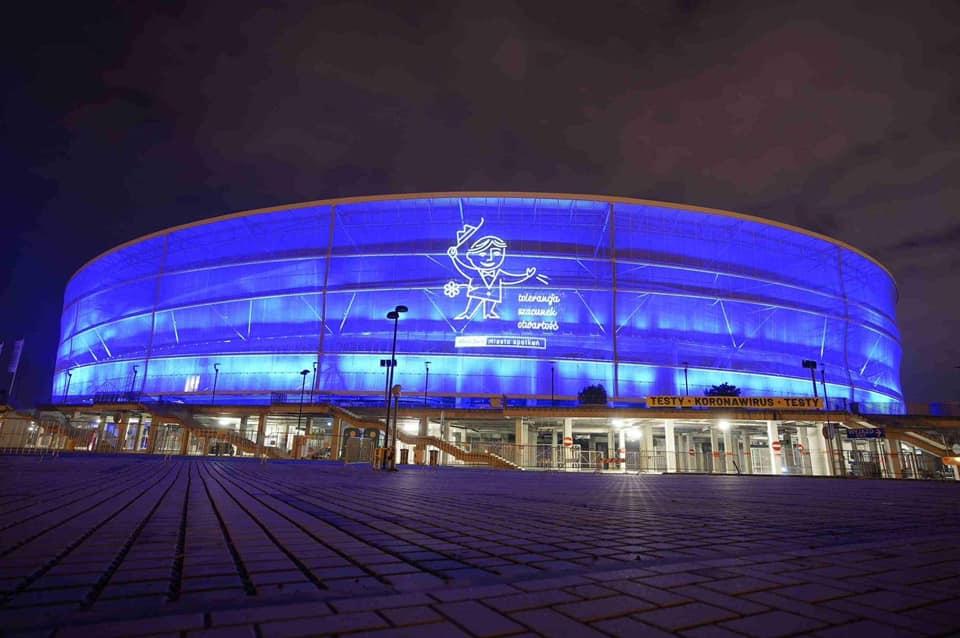 Tak wyglądał Stadion Wrocław w Dniu Tolerancji.