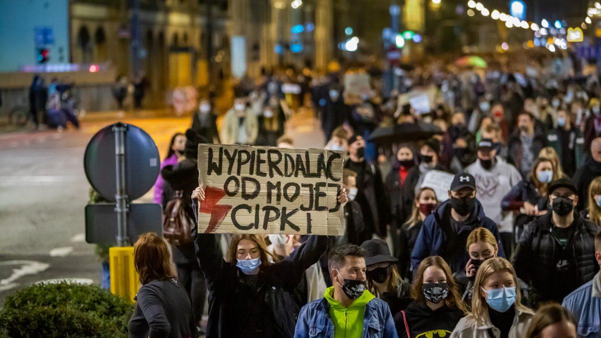 Sobotnie protesty we Wrocławiu.