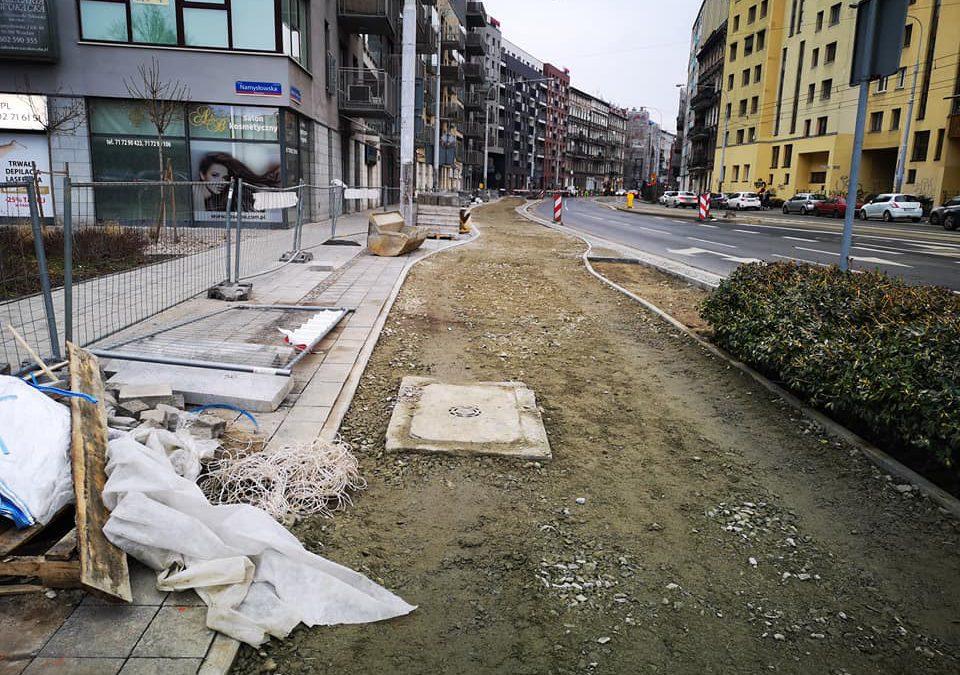 Rowerowa inwestycja przy ul. Jedności Narodowej.