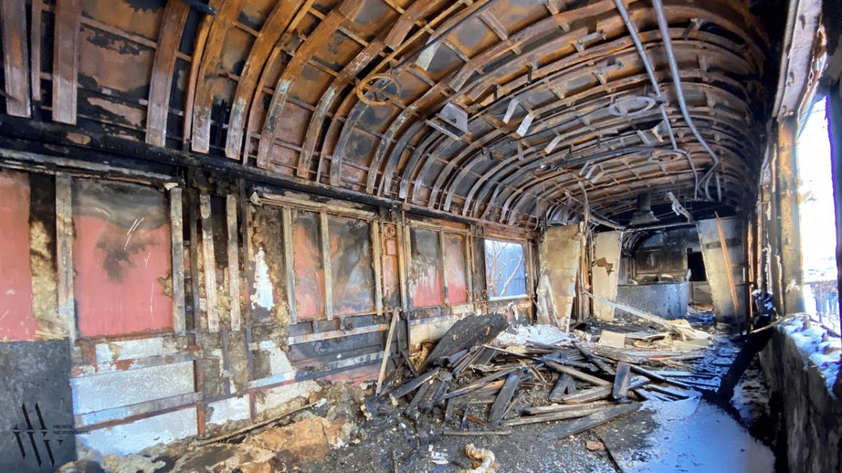 """Pożar w """"Wagon Club"""". Po dawnym klubie muzycznym zostały zgliszcza."""