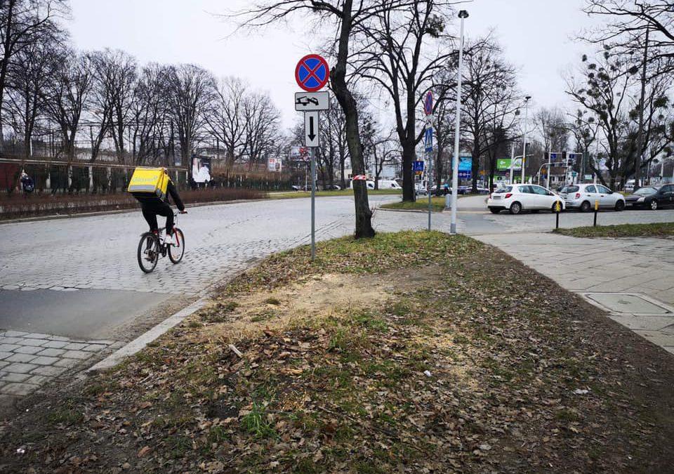 Nowe ścieżki rowerowe w okolicy Dworca Głównego.
