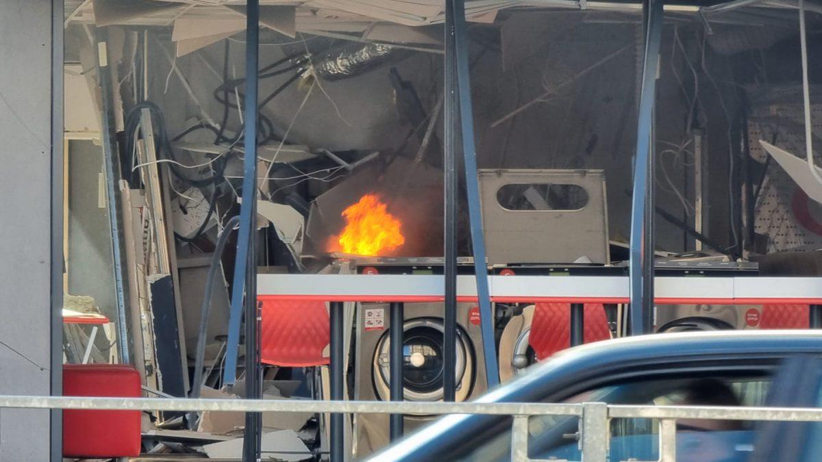 Wybuch w pralni samoobsługowej.