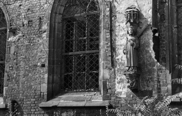 Figura św. Wincentego w 1946 roku.