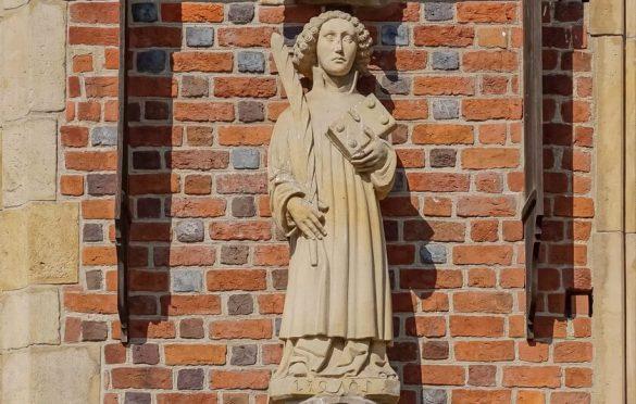 Figura św. Wincentego aktualnie.