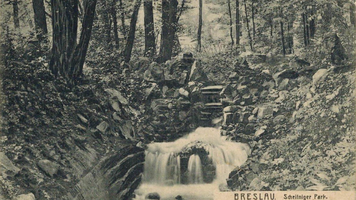 Wężowe Wzgórze, czyli dawny wodospad w parku Szczytnickim.