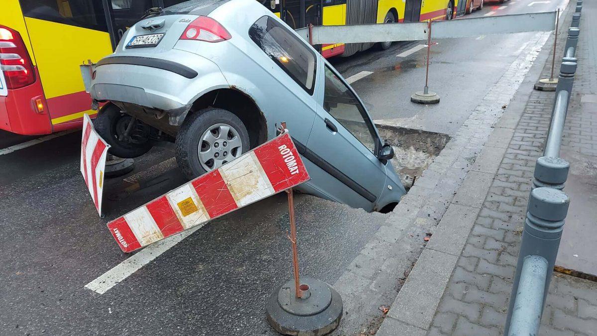 Niecodzienny wypadek na ul. Hallera.