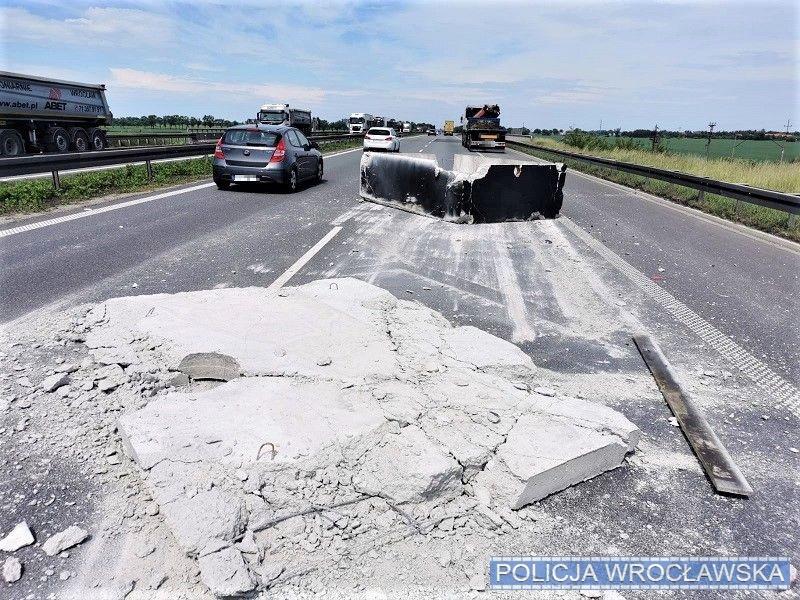 Groźne zdarzenie na autostradzie A4 pod Wrocławiem.