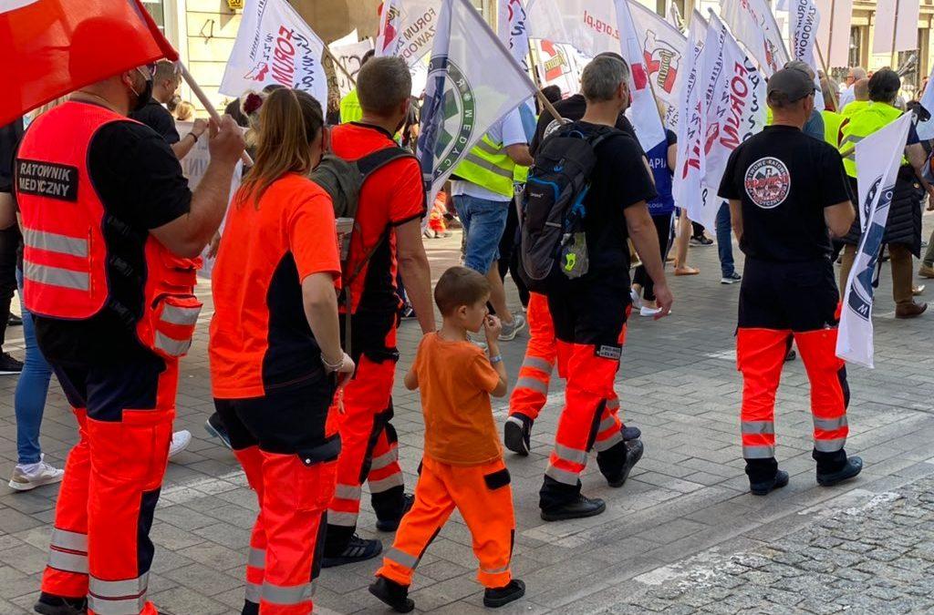 Manifestacja medyków przejdzie ulicami Wrocławia.
